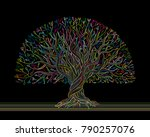 big tree with roots for your... | Shutterstock .eps vector #790257076
