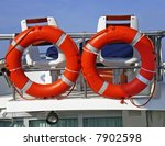a couple of life rings aboard... | Shutterstock . vector #7902598
