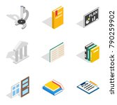 magistrate icons set. isometric ... | Shutterstock .eps vector #790259902