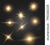 set shining star particles and... | Shutterstock .eps vector #790260235
