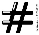 hashtag icon. simple... | Shutterstock .eps vector #790262932