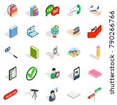 casual conversation icons set.... | Shutterstock .eps vector #790266766