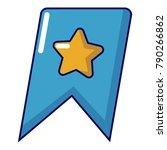 bookmark browser icon. cartoon... | Shutterstock .eps vector #790266862