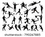 set of football soccer  ... | Shutterstock .eps vector #790267885