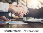 meeting and greeting concept ... | Shutterstock . vector #790269052