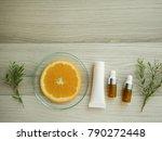 natural cosmetic skincare serum ... | Shutterstock . vector #790272448