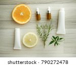 natural cosmetic skincare serum ... | Shutterstock . vector #790272478