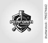 perform is an automotive logo... | Shutterstock .eps vector #790274662