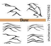 vector set of dune. sketch... | Shutterstock .eps vector #790275082
