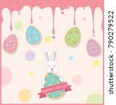 easter egg cookies  decorated... | Shutterstock .eps vector #790279522