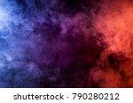 blue  pink  purple vape smoke... | Shutterstock . vector #790280212