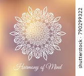 hand drawn mandala design... | Shutterstock .eps vector #790299322
