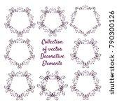 set of vector vintage luxury... | Shutterstock .eps vector #790300126