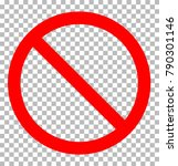 prohibition sign transparent... | Shutterstock .eps vector #790301146