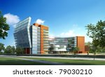 3d render building landscape | Shutterstock . vector #79030210