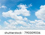 blue sky background with tiny... | Shutterstock . vector #790309036
