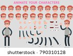 character creation set with...   Shutterstock .eps vector #790310128