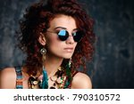 close up portrait of a... | Shutterstock . vector #790310572