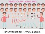flat vector guy character for... | Shutterstock .eps vector #790311586
