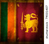 old grunge flag of sri lanka | Shutterstock . vector #79031407