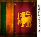 old grunge flag of sri lanka | Shutterstock . vector #79031407