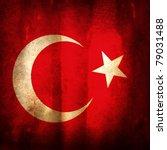 old grunge flag of turkey | Shutterstock . vector #79031488