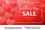 red promo web banner for... | Shutterstock .eps vector #790316422