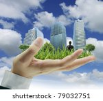person holding a business ... | Shutterstock . vector #79032751