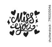 miss you. premium handmade... | Shutterstock .eps vector #790335046