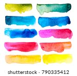 Abstract hand  drawn watercolor. Colorful splashing in the paper. It is wet texture background with paint brushes stoke. Picture for creative wallpaper or design art work. Pastel colors tone.