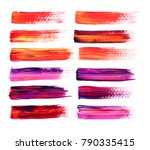 abstract hand  drawn watercolor.... | Shutterstock . vector #790335415