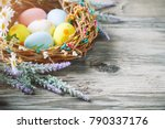 happy easter. congratulatory...   Shutterstock . vector #790337176
