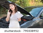 young asia woman standing in... | Shutterstock . vector #790338952