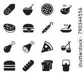 solid black vector icon set  ... | Shutterstock .eps vector #790344556