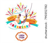 circus. circus trapeze acrobat... | Shutterstock .eps vector #790352782