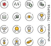 line vector icon set  ... | Shutterstock .eps vector #790356916
