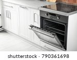 new electric oven in kitchen | Shutterstock . vector #790361698