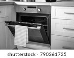 new electric oven in kitchen | Shutterstock . vector #790361725