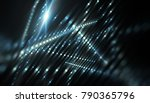 lights blue background with... | Shutterstock . vector #790365796