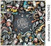 cartoon cute doodles vehicle... | Shutterstock .eps vector #790367452