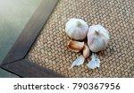 garlic. garlic cloves and...   Shutterstock . vector #790367956