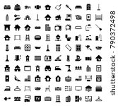 home icons. set of 100 editable ... | Shutterstock .eps vector #790372498