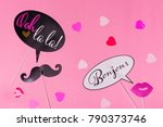 french theme photo props   lips ... | Shutterstock . vector #790373746