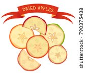 vector dried apples chopped... | Shutterstock .eps vector #790375438