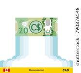 canadian dollar rising as a... | Shutterstock .eps vector #790376548