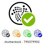 accept iota icon. vector... | Shutterstock .eps vector #790379902
