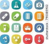 flat vector icon set   virus... | Shutterstock .eps vector #790385902
