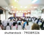 blurred business or education... | Shutterstock . vector #790389226