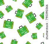 suitcase seamless pattern... | Shutterstock .eps vector #790390366