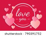 valentine's day   cute poster... | Shutterstock .eps vector #790391752